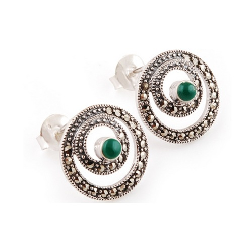 The Ecliptic Marcasite Silver Studs