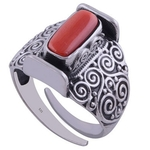 Cocktail Coral Ring