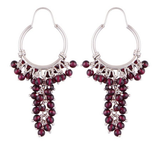 The Garnet Bouquet Stone Earrings
