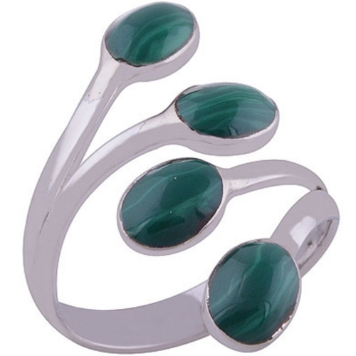 The Malachite Bud Silver Ring