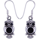 The Black Owl Silver Earring