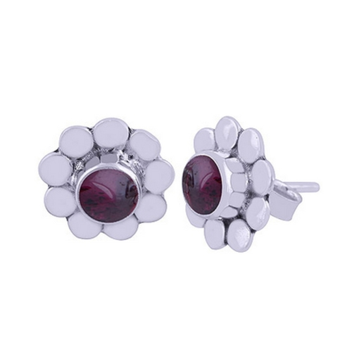 The Pompon Silver Studs