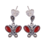 The Butterfly Marcasite Cut Stone Studs