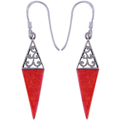 The Fire Spike Silver Earring