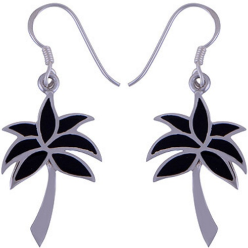 The Onyx Tree Silver Earring