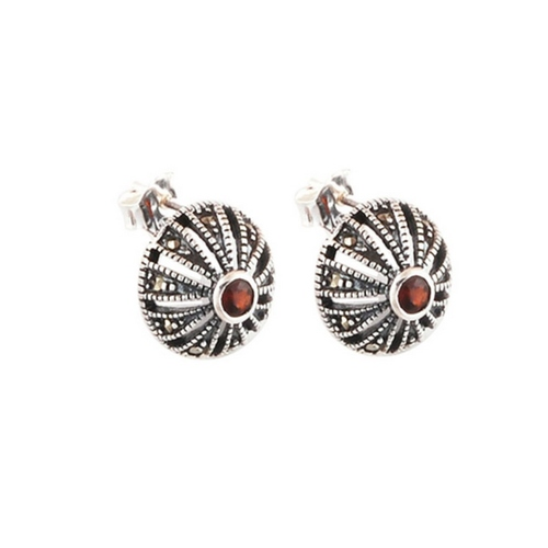 The Shield Marcasite Silver Studs