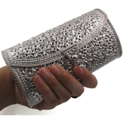 Collectible Floral Engrave Handmade Evening Clutch