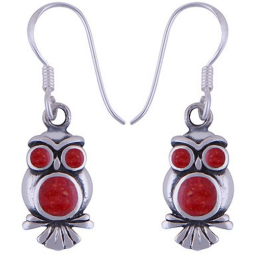 The Fire Owl Silver Earring