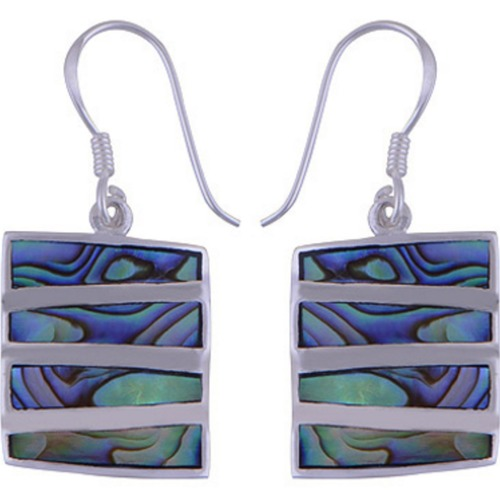 The Abalone Stack Silver Earring