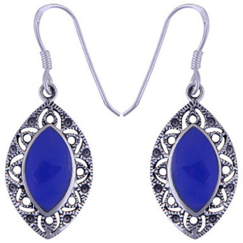 The Azure Eye Silver Earring