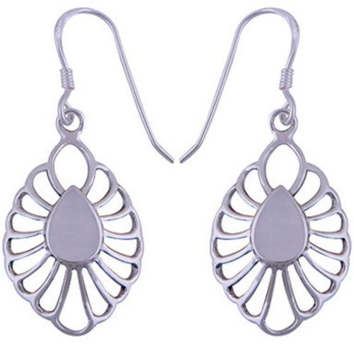The Moon Silver earring
