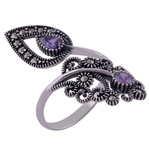 The Purple Pasley Silver Ring