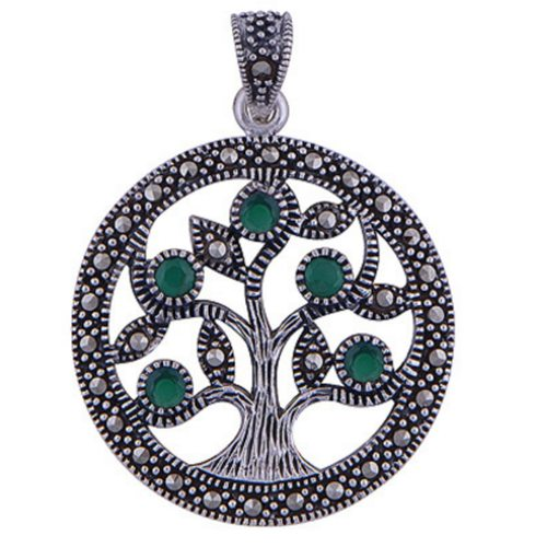 The Corundum Tree Of Life Silver Pendant