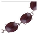Garnet Silver Bracelet