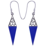 The Midnight Spike Silver Earring