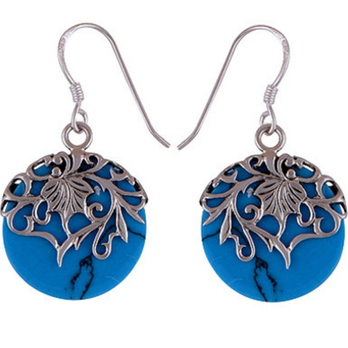 The Azure Split Silver Earring