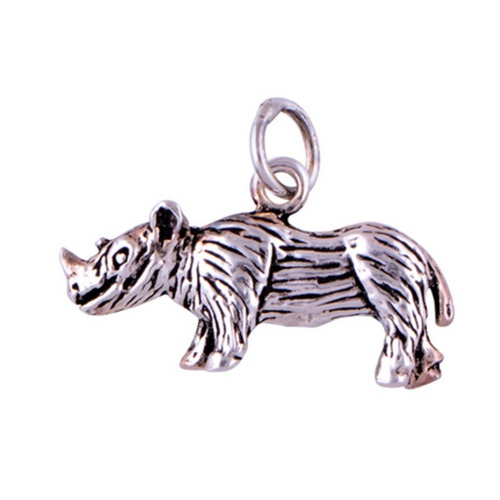 The Rhino Silver Pendant