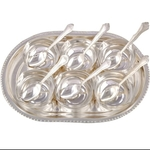 ALMAS SILVER PLATED SET OF 6 SERVING BOWLS