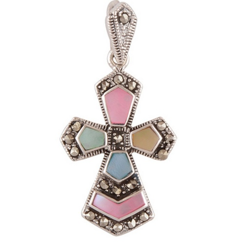 The Christ Marcasite Silver Pendant
