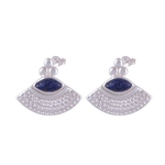 The Garb Lapis Silver Earrings
