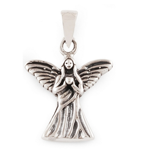 The Guarding Angel Silver Pendant