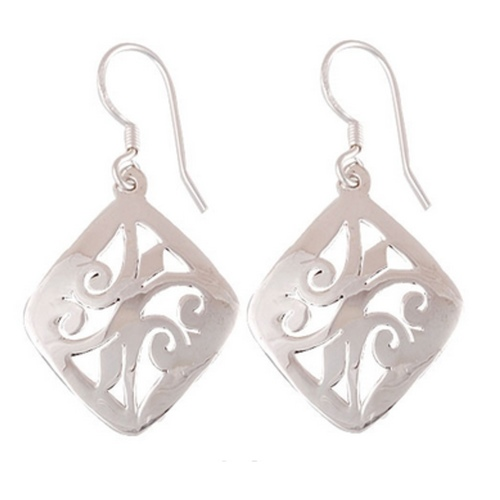 The Dance Flow Silver Earrings