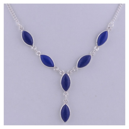 The Lapis Silver Necklace