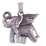 The Baby Elephant Silver Pendant