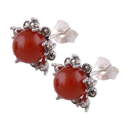 The Crimson Globule Marcasite Cut Stone Studs