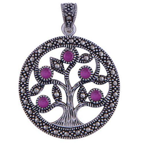 The Corundum Tree Of Life Silver Pendant