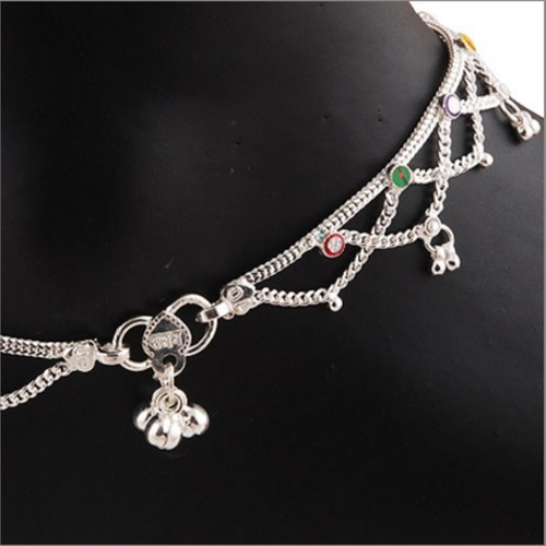 SILVER CROSS ANKLET