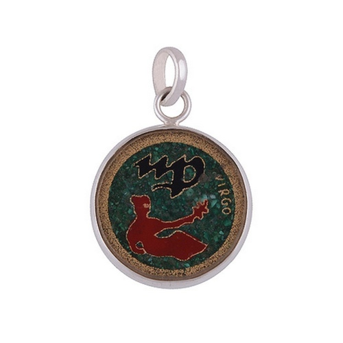 The Hand-Painted Silver Virgo Pendant