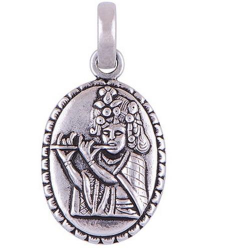 The Murlidhar Silver Pendant