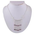 The Garnet Silver Necklace