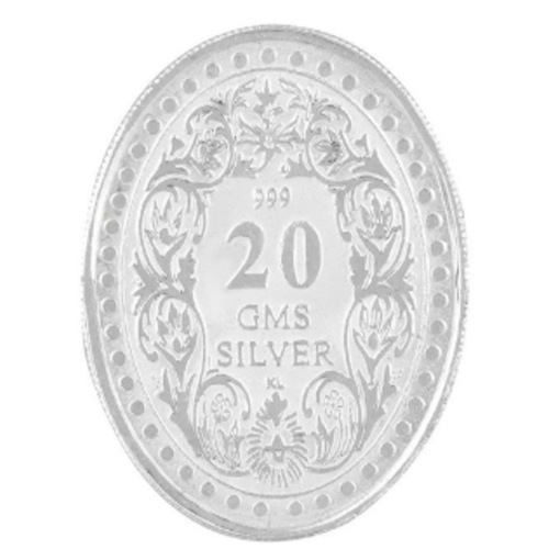 Silver Coin George King 20 Gm 999 BIS Hallmarked Purity