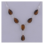 The Tiger Eye Silver Necklace