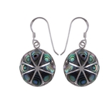 The Abalone Shell Silver Earrings