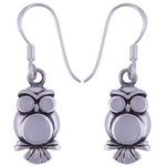 The Snow Owl Silver Earring