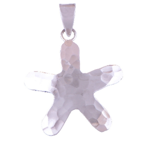 The Hammered Star Silver Pendant