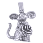 The Rose Mickey Silver Pendant