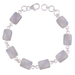 Rainbow Stone Silver Bracelet
