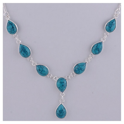 The Turquoise Silver Necklace