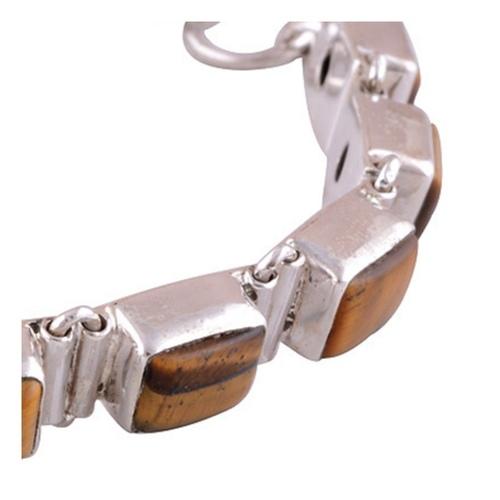 Tiger Eye Silver Bracelet