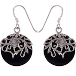 The Night Split Silver Earring