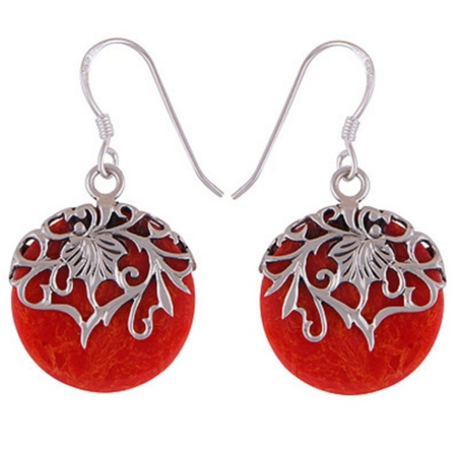 The Fire Split Silver Earring