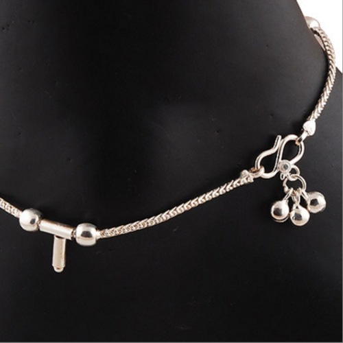 SILVER T ANKLET