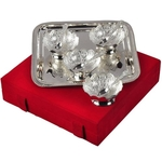 SILVER PLATED SERVING SET WITH 1 TRAY, 4 BOWLS AND 4 SPOON WITH VELVET BOX