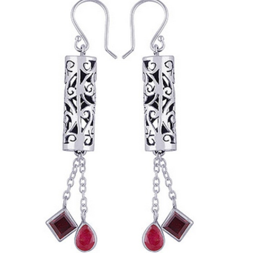 The Tibetien Silver Earring