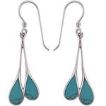 The Blue Drop Silver Earring