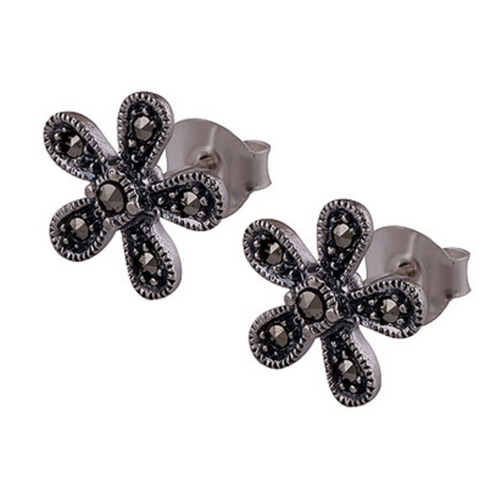 The Blossom Marcasite Cut Stone Studs